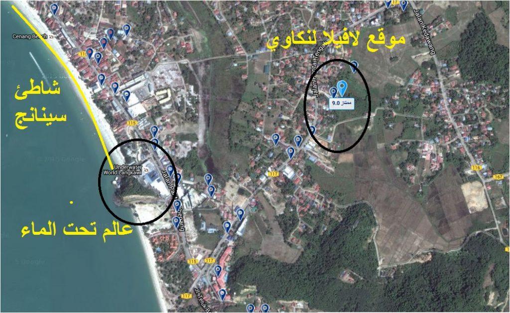 خريطة لافيلا لنكاوي