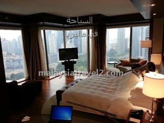 غرف النوم في فندق جراند حياة كوالالمبور5