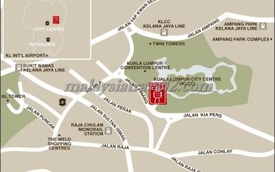 فندق تريدرز كوالالمبور ماليزيا خريطهTraders Hotel, Kuala Lumpur map1