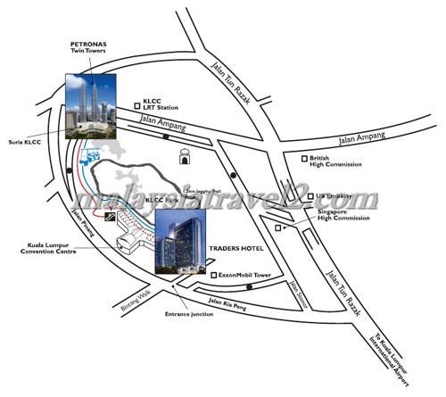 فندق تريدرز كوالالمبور ماليزيا خريطهTraders Hotel, Kuala Lumpur map2