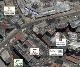 خريطة جوية لشارع العرب