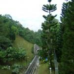صوره توضح مسار القطار في هضبة بينانج