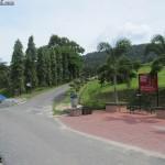 الطريق الى الحديقة في حديقة الفواكة في لنكاوي