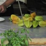 فاكهة النجمة في حديقة الفواكة في لنكاوي