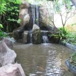 بحيرة و شلالات داخل الحديقه حديقه الطيور في جزيرة لنكاوي ماليزيا