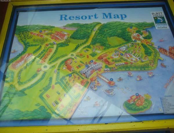 خريطة المنتزة في بينانج