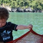 الاطفال في رحلة الغروب في لنكاوي