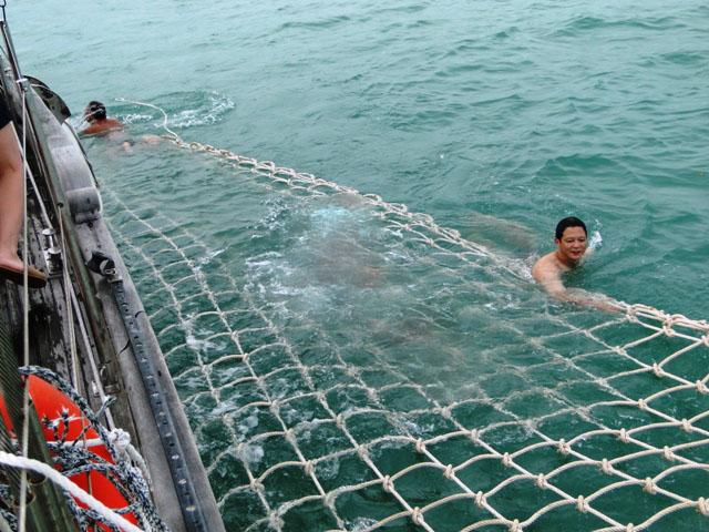 السباحة في رحلة الغروب