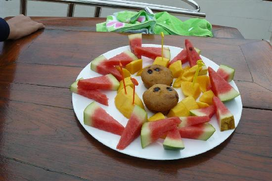 الفاكهة في رحلة الغروب