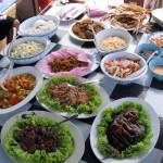 العشاء في رحلة الغروب في لنكاوي