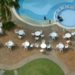 لقطة من البلكونه على مسبح فندق فلامينقو في بينانج
