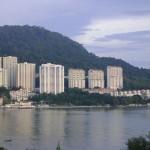 منظر من البلكونه على البحر فندق فلامينقو في بينانج