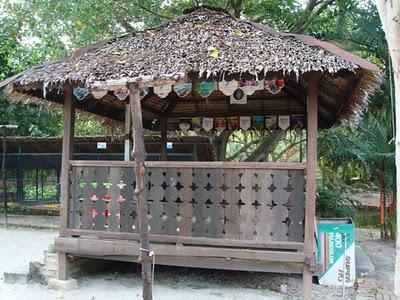 محل استراحة في حديقة الطيور في بينانج