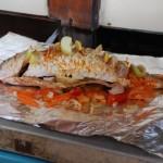 سمك مشوي في رحلة الغروب في لنكاوي