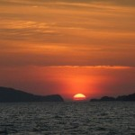 غروب الشمس في رحلة الغروب في لنكاوي