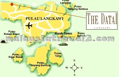 خريطة The Datai Resort Langkawi فندق داتاي جزيرة لنكاوي