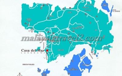 map خريطة فندق كاسا ديل مار لنكاوي