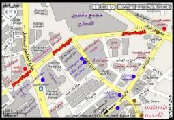 خريطة لشارع العرب