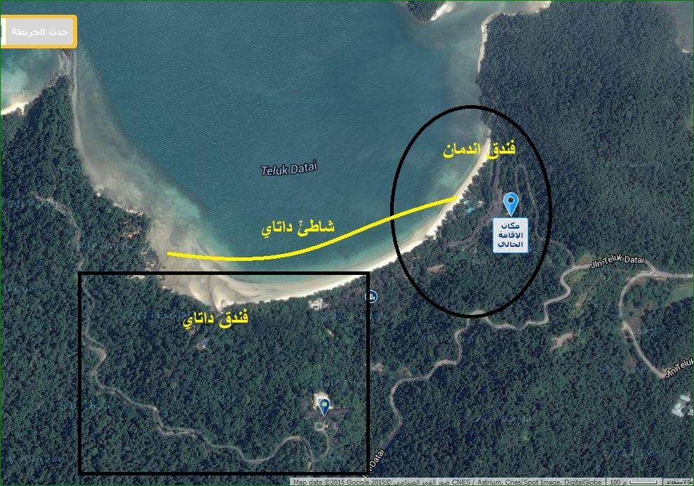 خريطة شاطئ داتاي