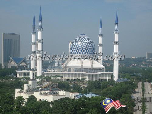 blue mosque malaysialالمسجد الازرق ماليزيا