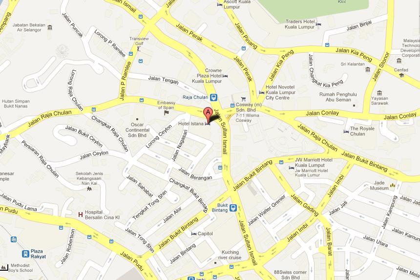 istana_hotel_kl_map