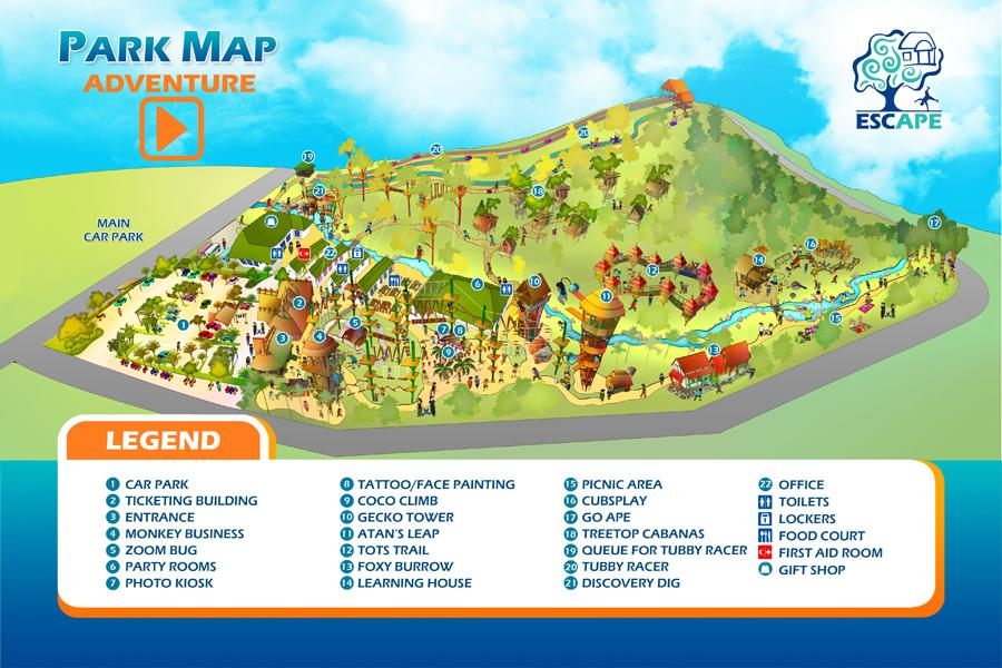 penang-escape-theme-park-map